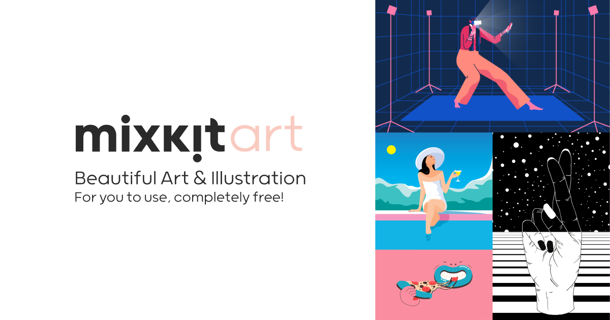 Mixkit - Beautiful Free Art & Illustration Stock Images